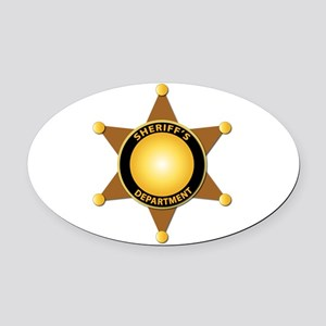 Sheriff's Department Badge Oval Car Magnet
